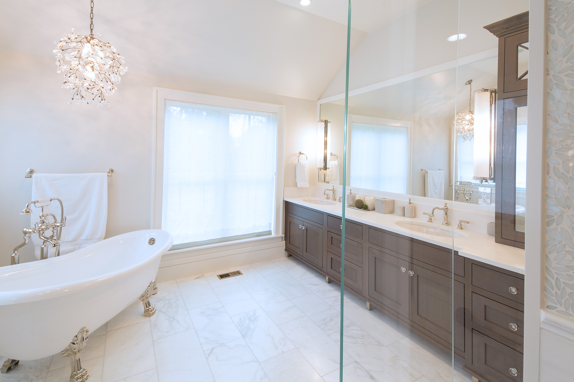 Stained Master Bathroom Cabinets in Rockport